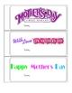 Mother's Day Coupons - 3 Versions