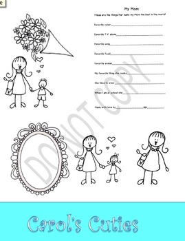Mother's Day Craft - Card Clip Art