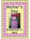 Mother's Day Craft Craftivity Gift Breakfast in Bed - QUICK AND EASY