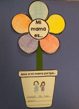 Mothers' Day Craft - ENGLISH and SPANISH