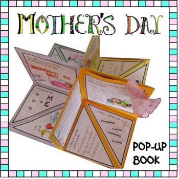 mother s day craft pop up mother s day book by artsy crafter tpt