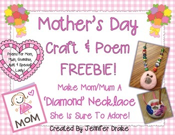 Mother's Day Craft & Poem FREEBIE!
