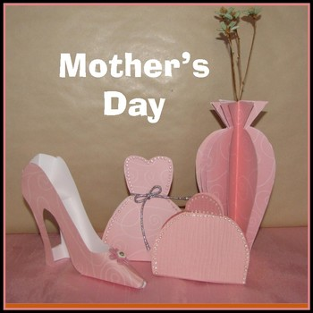 Mother's Day Craft - Shoe, Dress Box, Clutch Purse and a Vase