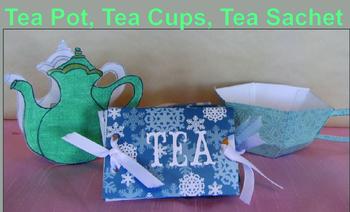 Mother's Day Craft - Tea Pot, Tea Cup & Saucer, Tea Sachet