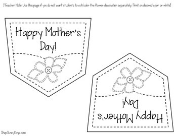 Mother's Day Craftivity Card