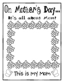 Mother's Day Craftivity - Color and Write Card