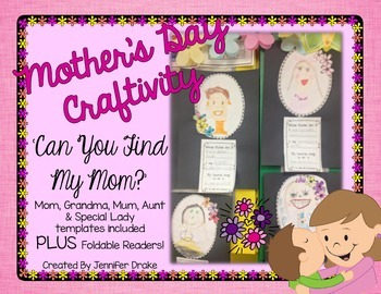 Mother's Day Craftivity & Foldable Reader ~Can You Find My Mom?~ CC Aligned!