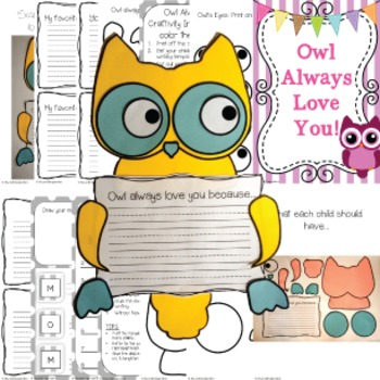 Mother's Day Craft Activity | Owl Always Love You! | Fun Writing Craftivity
