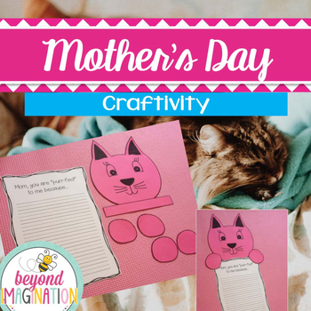 Mother's Day Craft Activity | Cat Themed Writing Craftivity for Little Learners