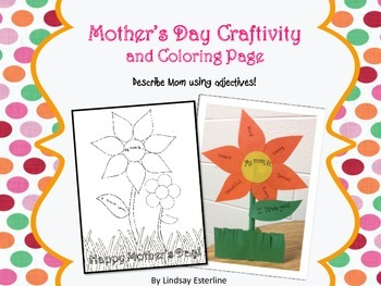 Mother's Day Craftivity and Coloring Page