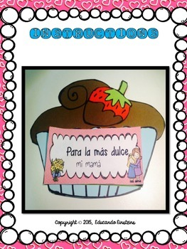 Mother's Day Craftivity:  Cupcake Coupon Book in SPANISH