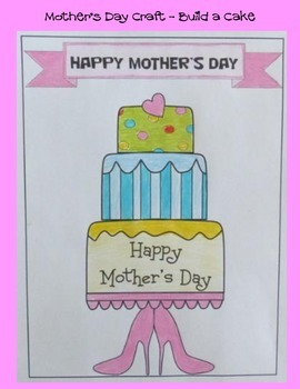 Mother's Day Crafts - Bake Mom a Cake