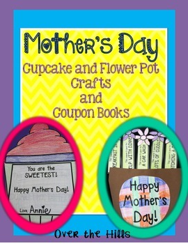 Mother's Day Crafts {Flower, Cupcake, and Coupon Book}