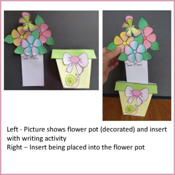 Mother's Day Crafts - Flower Pot with Flowers Insert