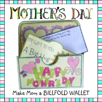 Mother's Day Crafts - Make Mom a Billfold Wallet
