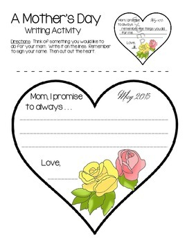Mothers Day Creative Writing