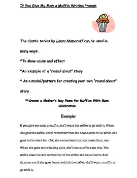 Mother's Day Creative Writing: If You Give a Mom A Muffin