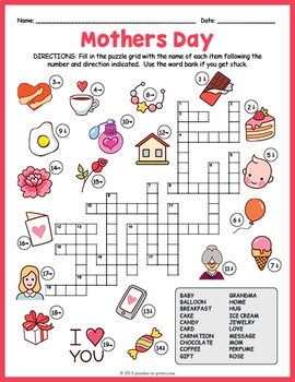 Mother's Day Crossword Puzzle