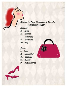 Mothers Day Crossword Puzzle