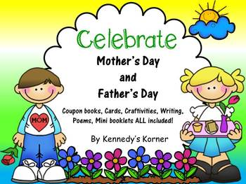 Mother's Day AND Father's Day Bundle~Craftivity, Cards, Coupons and more!