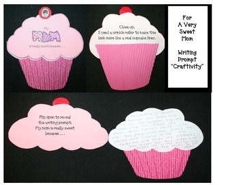 Free Mother's Day Craft: Cupcake Writing Prompt Craftivity
