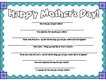 Mother's Day Diamante Poetry Frame