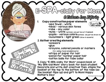 Mother's Day ~ E-SPA-cially for Mom Craft Giftivity