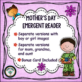 Mother's Day Emergent Reader   Focus Word Can   Boy and Gi