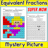 Mother's Day Math Color by Equivalent Fractions Mystery Picture