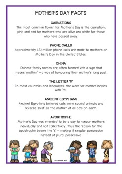 Mother's Day Fact Cards