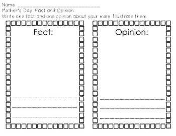 Mother's Day: Facts & Opinions Lesson