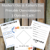 Mothers' Day & Father's Day Printable Questionnaires-Presc