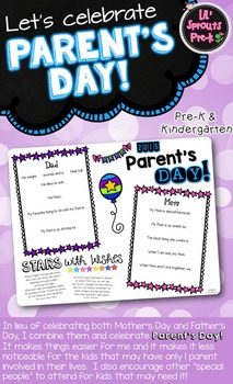 Mother's Day & Father's Day Project - Parent's Day Pre-K & Kindergarten