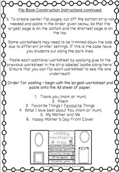 Mother's Day Activity ~  Lap Flip Book