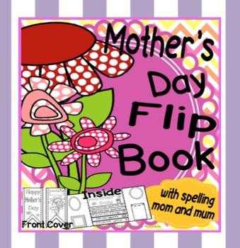 Mother's Day Activity ~  Lap Flip Book for Mom Mum Grandma