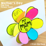 Mother's Day Card {A Flip the Flap Flower Card for Mom and Mum}