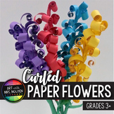 Elementary Art Lesson: Curled Paper Flower Sculpture