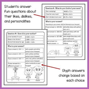 Mother's Day Math Goofy Glyph (7th Grade Common Core)