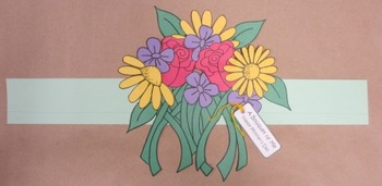 """Mother's Day Flower """"Bouquet of Me"""" Sentence Strip Hat"""