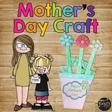 Mother's Day Craft Flower Pot Book CRAFTY -- GIFT --All About Mom
