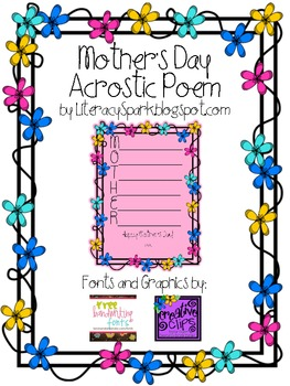 Mother's Day Flowered Acrostic Poem