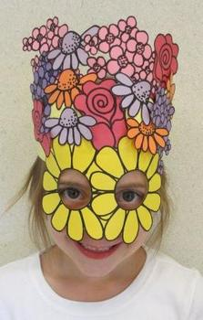 Mother's Day Flowers Sentence Strip Hat Mask