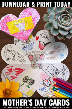 Mother's Day Craft, Foldable Mothers Day Card for Kids to Make