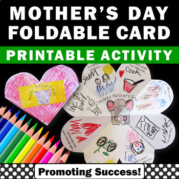 Mothers Day Card for Kids to Make, Mothers Day Craft (also Special Person)