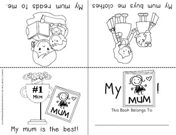 Mother's Day Foldable Emergent Reader for Mom & Mum!  3 Versions Included!