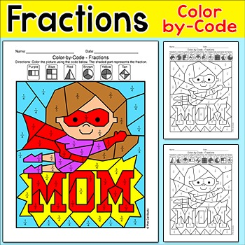 Mother's Day Fractions Math Center