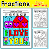 Mother's Day Color by Fractions Hidden Picture - Fun Morning Work or Math Center