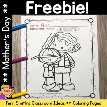 FREE Coloring Page for Mother's Day