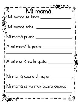 Mother's Day Spanish and English Freebie