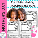 Free Mother's Day Writing Frames For Pre-K -2 Updated for 2021 Includes Mum